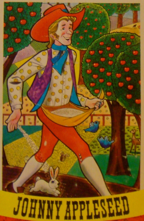 Johnny Appleseed Jigsaw Puzzle, one of the many fanciful images of the man