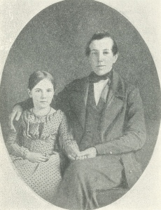 Elizabeth Powell Bond, age 8, with her older brother, Aaron Macy Powell, age 17